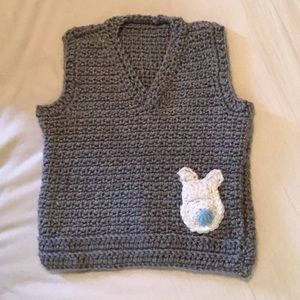 Crochet Easter bunny vest